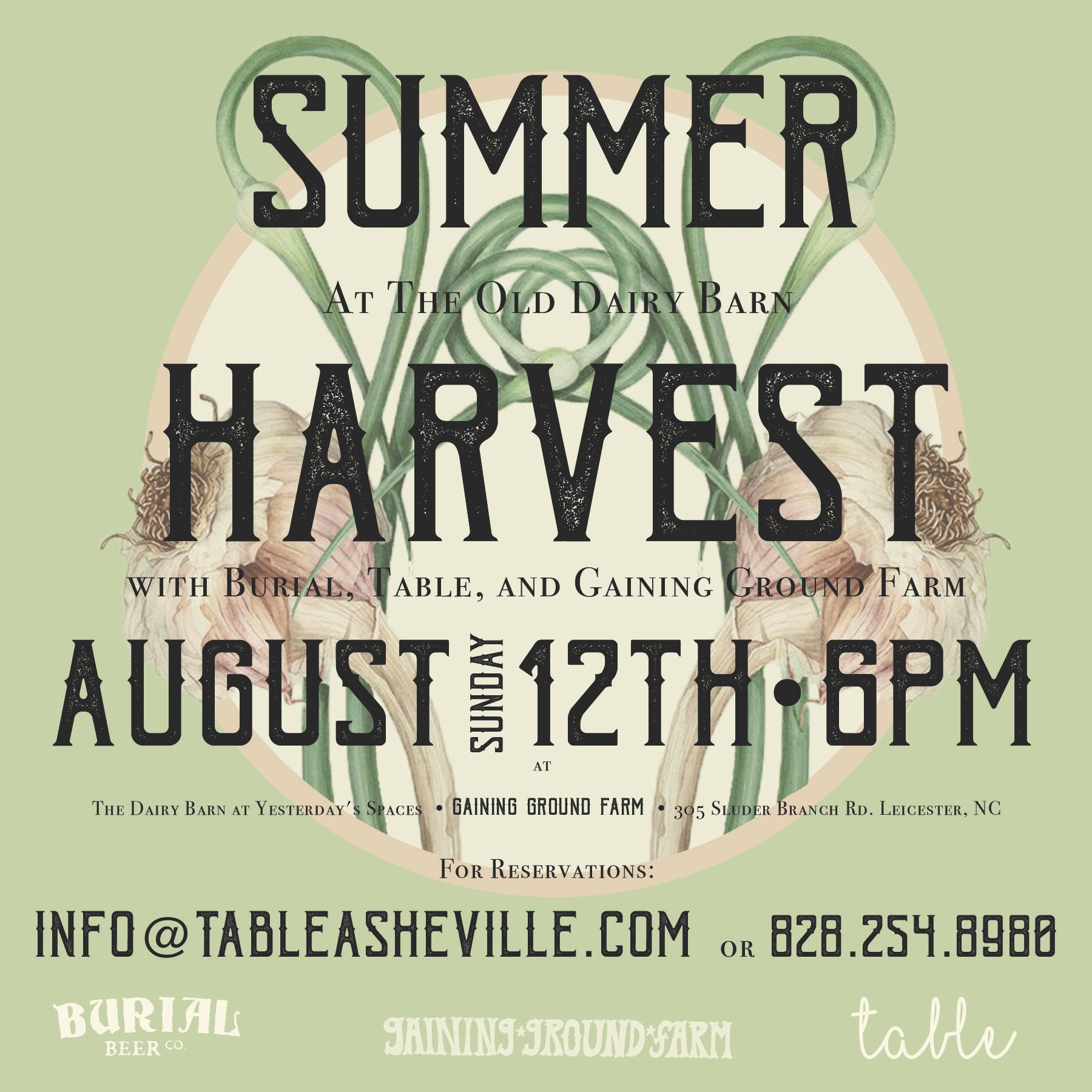 Burial & Table Harvest Dinner @Gaining Ground Farm